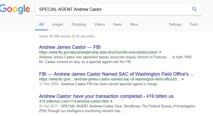 FBI Andrew Castor