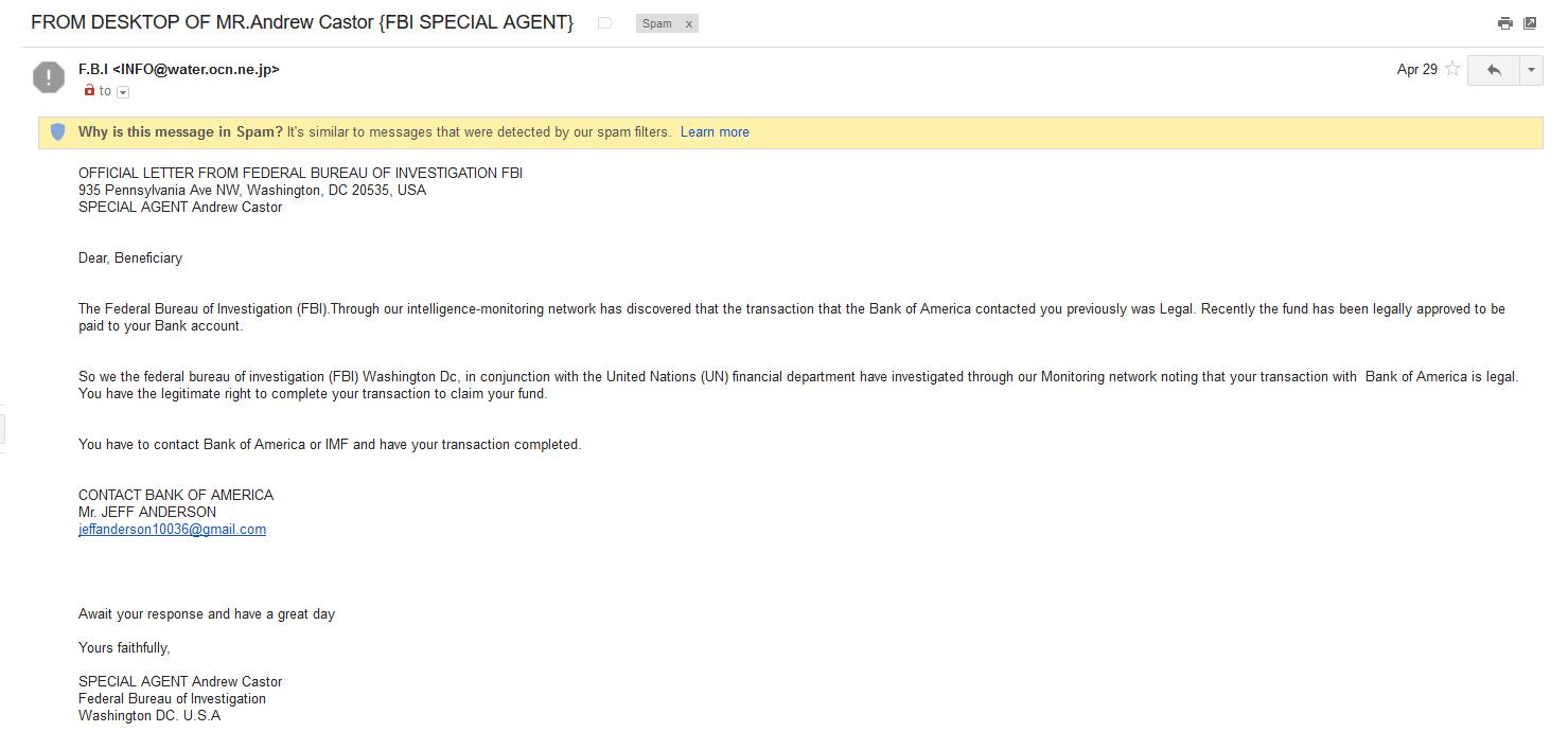 FBI spam
